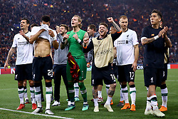 May 2, 2018 - Rome, Lazio, Italy - AS Roma v FC Liverpool - Champions League semi-final second leg.Liverpool players celebrate greeting their supporters at Olimpico Stadium in Rome, Italy on May 02, 2018. (Credit Image: © Matteo Ciambelli/NurPhoto via ZUMA Press)