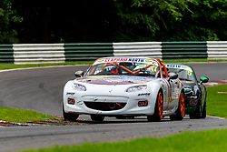 Nick Dunn pictured while competing in the BRSCC Mazda MX-5 SuperCup Championship. Picture taken at Cadwell Park on August 1 & 2, 2020 by BRSCC photographer Jonathan Elsey
