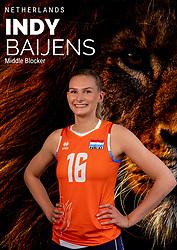 Indy Baijens of Netherlands, Photoshoot selection of Orange women's volleybal team season 2021on may 12, 2021 in Arnhem, Netherlands (Photo by RHF Agency/Ronald Hoogendoorn)