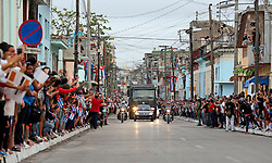 November 30, 2016 - Cuba - Cubans wait for the passage of Fidel Castro's ashes in Santa Clara, Cuba on Thursday, December 1, 2016. (Credit Image: © Al Diaz/TNS via ZUMA Wire)
