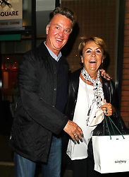 Ex Manchester United manager Louis van Gaal is seen in Manchester outside Wings's Chinese Restaurant