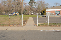 Hanover Elementary School - Kindergarten Addition.James R Anderson Photographer   photog.com 203-281-0717.Andrade Architects, LLC. Enfield Builders, Inc..Photography Date: 14 December 2011.Camera View: North, North side of May Street. Sidewalks along street and into School property..Image Number 02