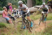 Manuel FUMIC (DEU) and Henrique AVANCINI (BRA) of team Cannondale Factory Racing during the Prologue of the 2019 Absa Cape Epic Mountain Bike stage race held at the University of Cape Town in Cape Town, South Africa on the 17th March 2019.<br /> <br /> Photo by Greg Beadle/Cape Epic<br /> <br /> PLEASE ENSURE THE APPROPRIATE CREDIT IS GIVEN TO THE PHOTOGRAPHER AND ABSA CAPE EPIC