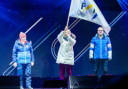 20.02.2019, Seefeld, AUT, FIS Weltmeisterschaften Ski Nordisch, Seefeld 2019, Eröffnungsfeier, im Bild v.l. Prof. Peter Schröcksnadel (ÖSV Präsident), Gian Franco Kasper (Präsident des Internationalen Skiverbandes FIS), Pekka Timonen (Delegation Lahti) // f.l. Peter Schroecksnadel Austrian Ski Association President Gian Franco Kasper President of the International Ski Federation FIS and Pekka Timonen delegation Lahti during the opening ceremony of the FIS Nordic Ski World Championships 2019. Seefeld, Austria on 2019/02/20. EXPA Pictures © 2019, PhotoCredit: EXPA/ Stefan Adelsberger