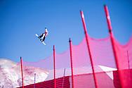 Anna Gasser during Women's Snowboard Slopestyle Practice at the 2017 X Games Aspen in Aspen, CO. ©Brett Wilhelm/ESPN