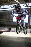 #1 (SMULDERS Laura) NED during practice at the 2019 UCI BMX Supercross World Cup in Manchester, Great Britain