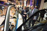 23 OCT 2012, BERLIN/GERMANY:<br /> Dr.-Ing. Herbert Diess, Mitglied des Vorstandsmitglied Entwicklung der BMW AG, und Peter Altmaier (R), CDU, Bundesumweltminister, besichtigen eine Studie eines Elektroautos, BMW Leistungsschau Elektromobilitaet, E-Werk Berlin<br /> IMAGE: 20121023-02-069<br /> KEYWORDS: Automobilindustrie, KFZ, Auto, Elektromobilität, E-Mobility