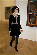 MOLLIE DENT BROCKLEHURST at the Private view for A Strong Sweet Smell of Incense<br /> A Portrait of Robert Fraser, Curated by Brian Clarke. Pace Gallery. 6 Burlington Gardens. London. 5 February 2015.