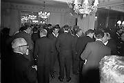 11/01/1963<br /> 01/11/1963<br /> 11 January 1963<br /> Leipzig Fair reception and film show at the Gresham Hotel, Dublin. A general view of the reception