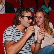 NLD/Amsterdam/20110731 - Premiere film De Smurfen, Sacha Visser en partner hockeyster Ellen Hoog