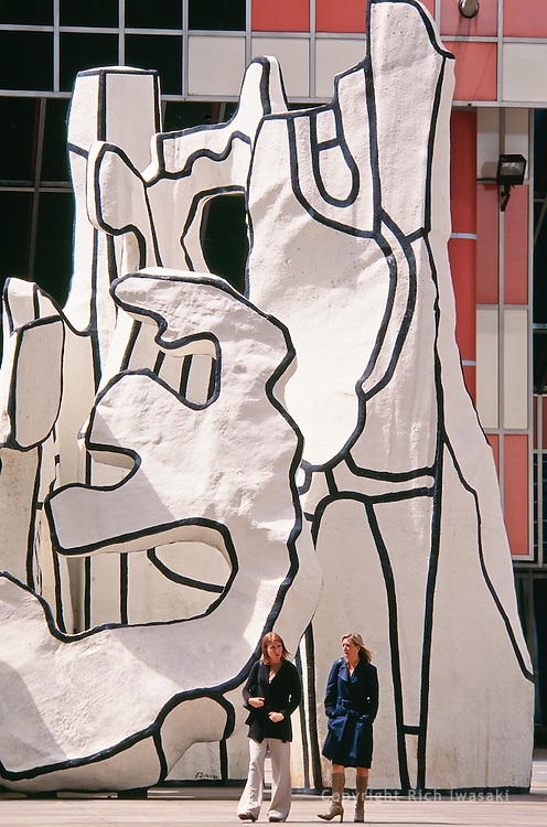 """""""Monument with Standing Beast"""" sculpture by Jean Dubuffet at James R. Thompson Center, Chicago, Illinois"""