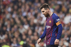 March 2, 2019 - Madrid, Madrid, Spain - Lionel Messi (forward; Barcelona) in action during La Liga match between Real Madrid and FC Barcelona at Santiago Bernabeu Stadium on March 3, 2019 in Madrid, Spain (Credit Image: © Jack Abuin/ZUMA Wire)