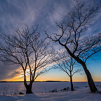 It was easy to fall in love with this stunning winter sky on Long Island's north shore.