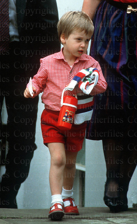 PRINCE WILLIAM SEEN ON HIS FIRST DAY AT MRS MYNOR'S NURSERY MONTESSORI SCHOOL. NOTTING HILL, LONDON. PHOTOGRAPH BY JAYNE FINCHER