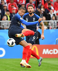 France's Mbappe during the World Cup 2018, France vs Peru at the Arena stadium in Ekateringburg Russia on June 21 , 2018. Photo by Christian Liewig/ABACAPRESS.COM