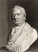 Charles Burney (1726-1814) English musicologist, born in Shrewsbury, Shropshire. Studied in London under Dr Arne. Travelled in Europe in 1770-1772, collecting material for his 'General History of Music' (1776-1789). Father of  the novelist and diarist Fanny (Frances) Burney, Madame D'Arblay.  Engraving from 'The European Magazine' (London, 1819).