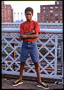 Young Criminal, Williamsburg Bridge, New York City, New York, USA, 1984