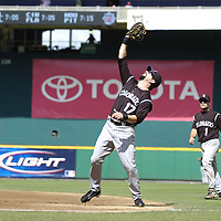 21 July 2007:  Colorado Rockies first baseman Todd Helton (17) catches a pop up in the first inning against Washington Nationals second baseman Ronnie Belliard.  The Nationals defeated the Rockies 3-0 at RFK Stadium in Washington, D.C.  ****For Editorial Use Only****