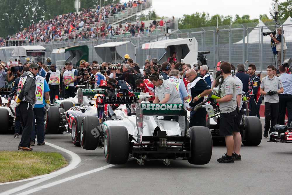 Pitlane after qualify before the 2011 Canadian Grand Prix in Montreal. Photo Grand Prix Photo