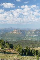 Absoroka Mountains seen from Beartooth Highway Wyoming