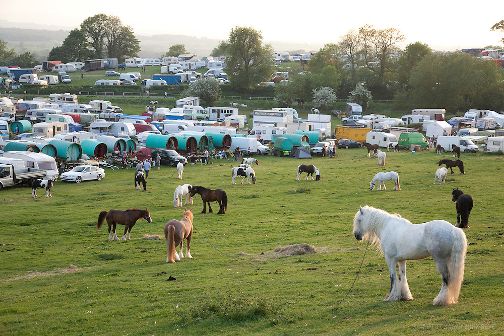Fair Hill viewed from the field reserved for  traditional gypsy wagon owners and their horses.