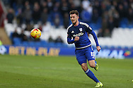 Anthony Pilkington of Cardiff city in action.Skybet football league championship match, Cardiff city v Rotherham Utd at the Cardiff city stadium in Cardiff, South Wales on  Saturday 23rd January 2016.<br /> pic by  Andrew Orchard, Andrew Orchard sports photography.