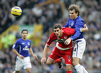 Photo: Paul Thomas.<br /> Everton v Middlesbrough. The Barclays Premiership.<br /> 06/11/2005.<br /> <br /> Kevin Kilbane and Stuart Parnaby.