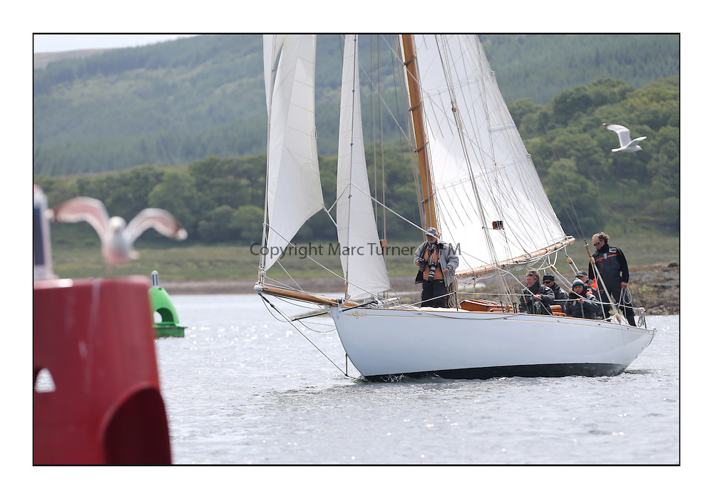 Day three of the Fife Regatta, Cruise up the Kyles of Bute to Tighnabruaich<br /> Viola, Yvon Rautureau, FRA, Gaff Cutter, Wm Fife 3rd, 1908<br /> <br /> * The William Fife designed Yachts return to the birthplace of these historic yachts, the Scotland's pre-eminent yacht designer and builder for the 4th Fife Regatta on the Clyde 28th June–5th July 2013<br /> <br /> More information is available on the website: www.fiferegatta.com