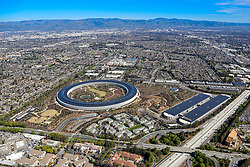 March 6, 2018 - Cupertino, California, U.S. - Apple Campus Aerial. The Apple Campus was the corporate headquarters of Apple Inc. from 1993 until 2017, when it was largely replaced by Apple Park, though it is still used by Apple as office and lab space. Apple Park, the extravagant, multibillion-dollar new campus headquarters. (Credit Image: © Kenneth Cantrell/ZUMA Wire/ZUMAPRESS.com)