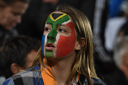 September 16, 2017 - Auckland, New Zealand - South Africa fans during the Rugby Championship test match between the New Zealand All Blacks and the South Africa Springboks at QBE stadium in Auckland on Sep 16, 2017. All Blacks beats Springboks 57-0. (Credit Image: © Shirley Kwok/Pacific Press via ZUMA Wire)