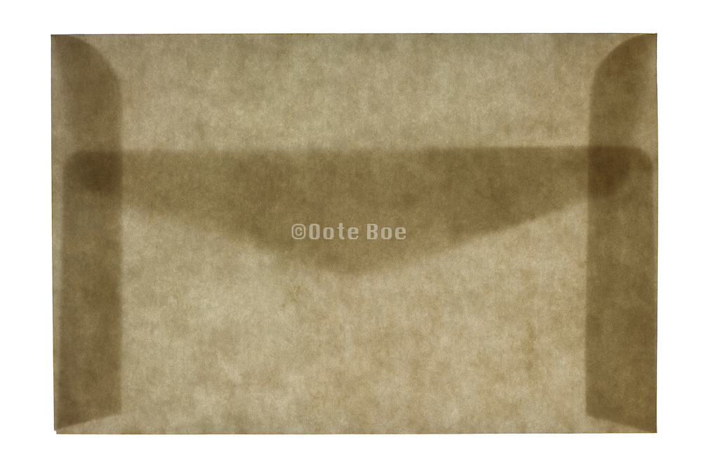 front view of a closed letter envelope