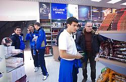 Robert Koren, Marko Suler, Milivoje Novakovic, Aleksander Radosavljevic and Igor E. Bergant at airport Shermetjevo after the FIFA World Cup South Africa 2010 Qualifying play-off match between Russia and Slovenia,  on November 14, 2009, in Moscow, Slovenia.   (Photo by Vid Ponikvar / Sportida)