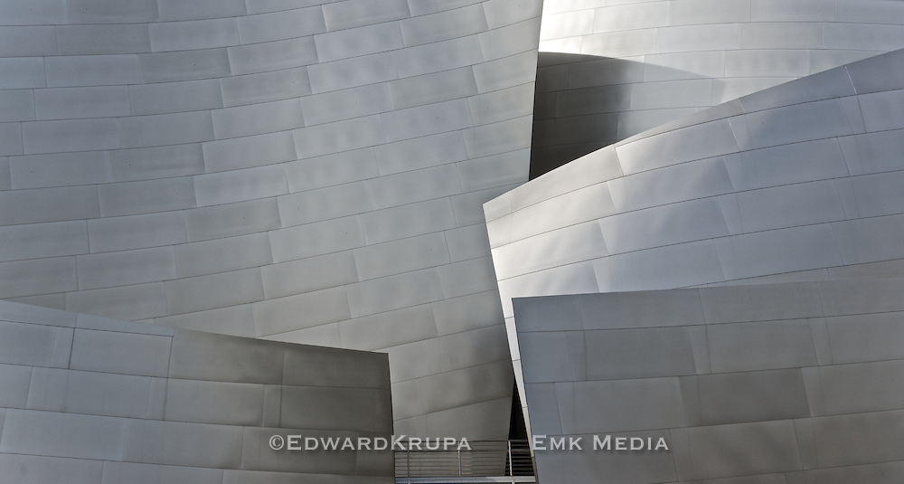 Detail of architect Frank Gehry's Walt Disney Concert Hall , Los Angeles.