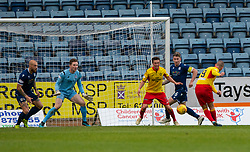 Partick Thistle's Kenny Miller scoring their first goal. Dundee 1 v 3 Partick Thistle, Scottish Championship game player 19/10/2019 at Dundee stadium Dens Park.