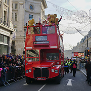 Hamleys Christmas Toy Parade will return to Regent Street for the third year this November, transforming the street into traffic-free family extravaganza. Look out for much-loved characters, colourful floats, giant balloons and Santa in London, UK.