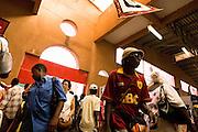 Visitors in a pavilion at the 22nd Salon International de l'Artisanat de Ouagadougou (SIAO) in Ouagadougou, Burkina Faso on Sunday November 2, 2008.