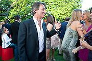 TIM JEFFERIES; MALIN JEFFERIES, The Summer Party. Serpentine Gallery. 8 July 2010. -DO NOT ARCHIVE-© Copyright Photograph by Dafydd Jones. 248 Clapham Rd. London SW9 0PZ. Tel 0207 820 0771. www.dafjones.com.