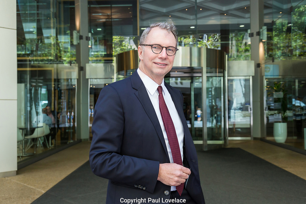 Managing Director Michael Cameron after Suncorp Half Year 17 Financial Results are announced, Sydney.9 Feb 2017.