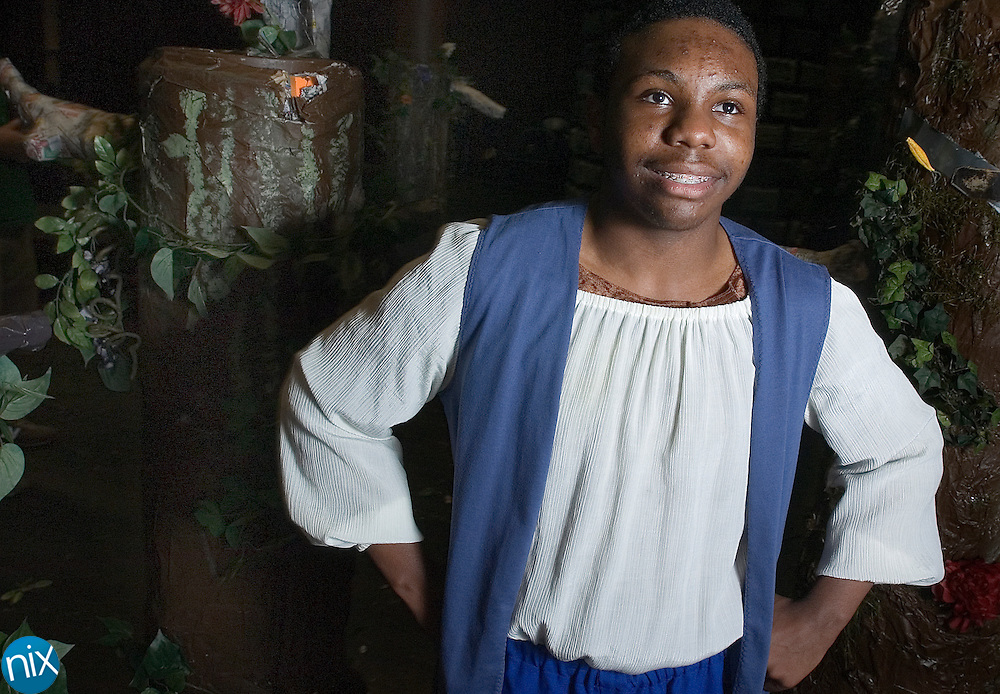 """Jack, played by Hickory Ridge High School freshman Bradford Smith in """"Into the Woods."""""""