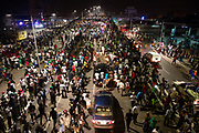 Crowd at the newly commissioned Kwame Nkrumah Interchange few days before the general elections. Circle-Ghana. November 11,2016.  Photo: Francis Kokoroko