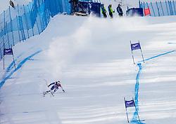 18.01.2013, Olympia delle Tofane, Cortina d Ampezzo, ITA, FIS Weltcup Ski Alpin, Abfahrt, Damen, 1. Training, im Bild Marianne Kaufmann-Abderhalden (SUI) // Marianne Kaufmann-Abderhalden of Switzerland in action during 1st practice of the ladies Downhill of the FIS Ski Alpine World Cup at the Olympia delle Tofane course, Cortina d Ampezzo, Italy on 2013/01/18. EXPA Pictures © 2013, PhotoCredit: EXPA/ Johann Groder