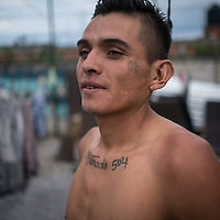 José is from Honduras, he is travelling through Mexico to the US. He is resting at a migrant refuge after four weeks travel from Honduras, much of it on foot and on the dangerous freight rail network known as La Bestia. Before arriving at the refuge he hadn't eaten for two days, and he had suffered violence along the way.