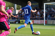 Wimbledon midfielder Mitchell (Mitch) Pinnock (11) dribbling into the box during the Pre-Season Friendly match between AFC Wimbledon and Queens Park Rangers at the Cherry Red Records Stadium, Kingston, England on 14 July 2018. Picture by Matthew Redman.