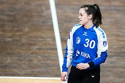 Anja Kastelic of ZRK Krka Novo Mesto during handball match between RK Olimpija and ZRK Krka Novo Mesto in Round #10 of National Youth League in Season 2020-21, on May 2, 2021 in Hala Tivoli, Ljubljana, Slovenia. Photo by Matic Klansek Velej / Sportida