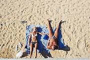 Sunbathing on the beach at Sardinia Bay (Olbia) on 10 July 2018. Christian Mantuano / OneShot