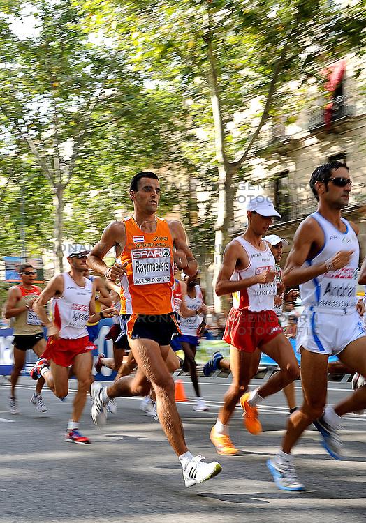 01-08-2010 ATLETIEK: EUROPEAN ATHLETICS CHAMPIONSHIPS: BARCELONA <br /> Koen Raymaekers is 17th in the marathon<br /> ©2010-WWW.FOTOHOOGENDOORN.NL