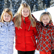 Fotosessie met de koninklijke familie in Lech /// Photoshoot with the Dutch royal family in Lech ...Op de foto / On the photo: Prinses Amalia, Prinses Alexia en Prinses Ariane /////   Princess Amalia, Princess Alexia and Princess Ariane