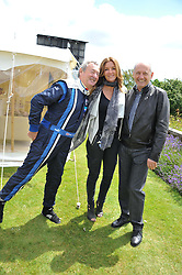 Left to right, NICK MASON, CAROL WEATHERALL and RON DENNIS at a luncheon hosted by Cartier for their sponsorship of the Style et Luxe part of the Goodwood Festival of Speed at Goodwood House, West Sussex on 1st July 2012.