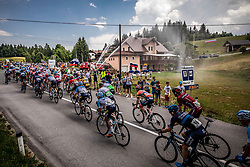 Peloton in Rovte during 3rd Stage of 26th Tour of Slovenia 2019 cycling race between Zalec and Idrija (169,8 km), on June 21, 2019 in Slovenia. Photo by Vid Ponikvar / Sportida
