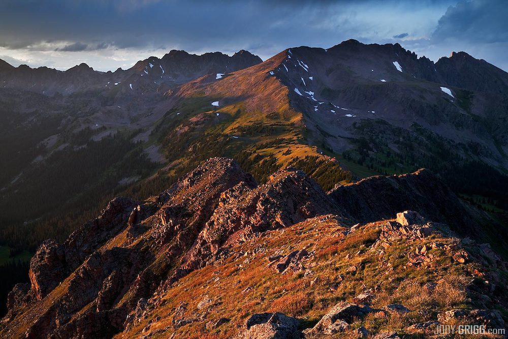 Looking north into the Gore Range from just above Eccles Pass in the Eagles Nest Wilderness area.